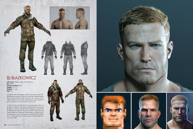 bethesda release art book coffee table companion wolfenstein new order of character