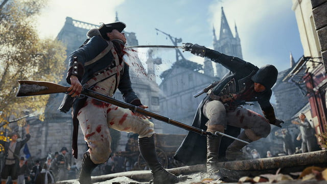 assassins creed unity reveals new weapons missions team opportunities combatsword
