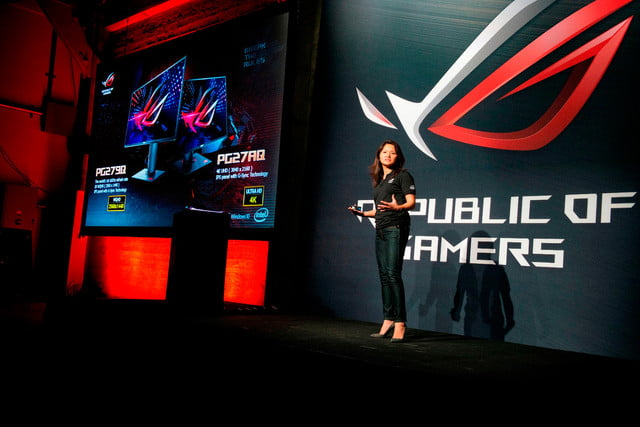 asus republic of gamers unleashed north america cmo vivian lien introduces the worlds first 165hz refresh rate ga