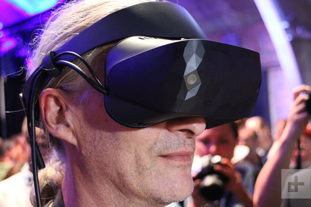 Windows Mixed Reality headset being worn