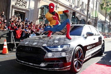 4f7ca6e2 Audi A8 Appears At 'Spider-Man: Homecoming' Premiere | Digital Trends
