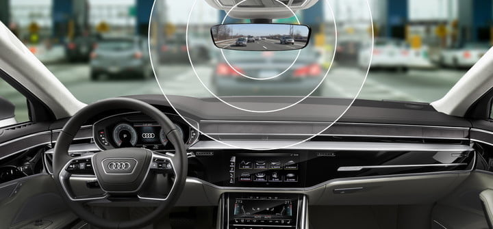 audi e tron features integrated electronic toll tag technology module