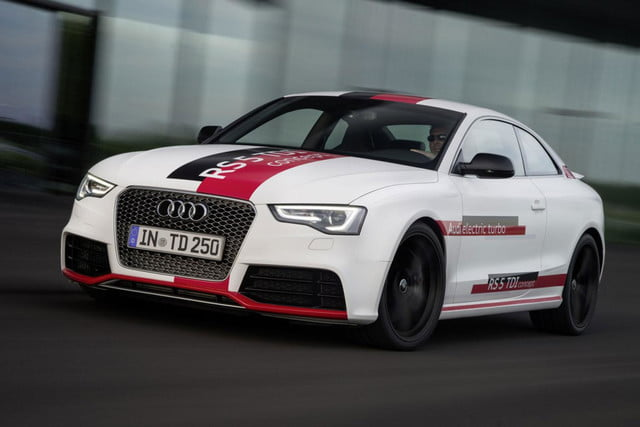 audis rs5 tdi concept uses electronic turbocharger developed le mans audi  press white driving