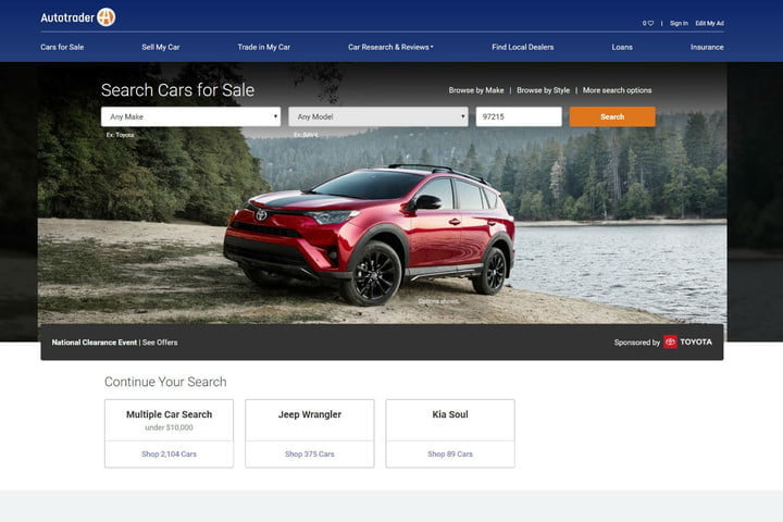 Car Selling Websites >> The Best Used Car Websites For 2019 Digital Trends