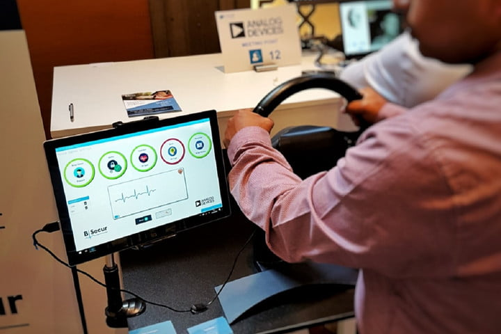 b secur heartkey uses ecg signals for tech purposes ces 2019 advanced auto steering wheel