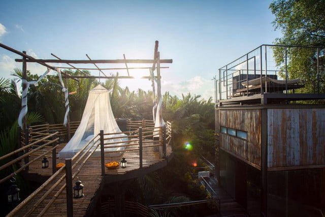 the bangkok tree house hotel lets guests sleep under stars resort 41