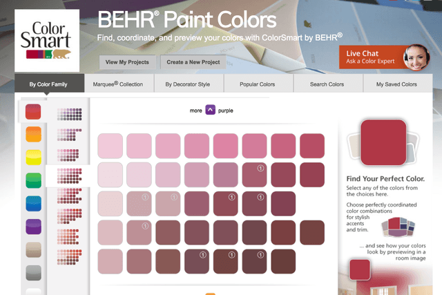 best tools to help you pick out paint colors for your walls behr color smart tool swatches