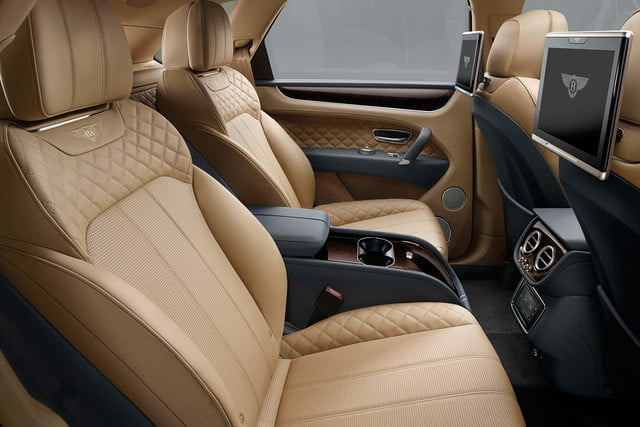 bentley says its bentayga suv can do it all but will customers bite  rear cabin b
