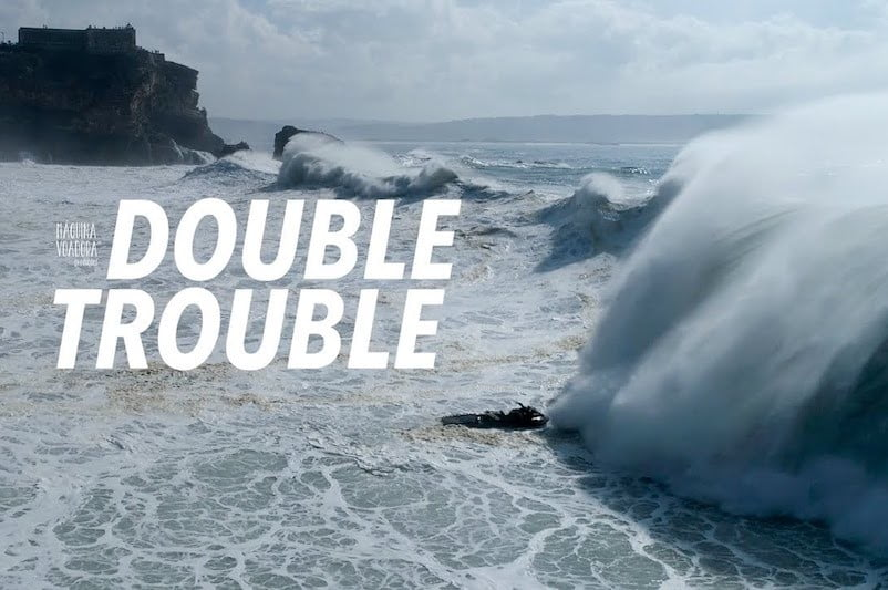 e24b92417855 Drone Captures Footage of Surfers Caught in Big Waves at Nazaré ...