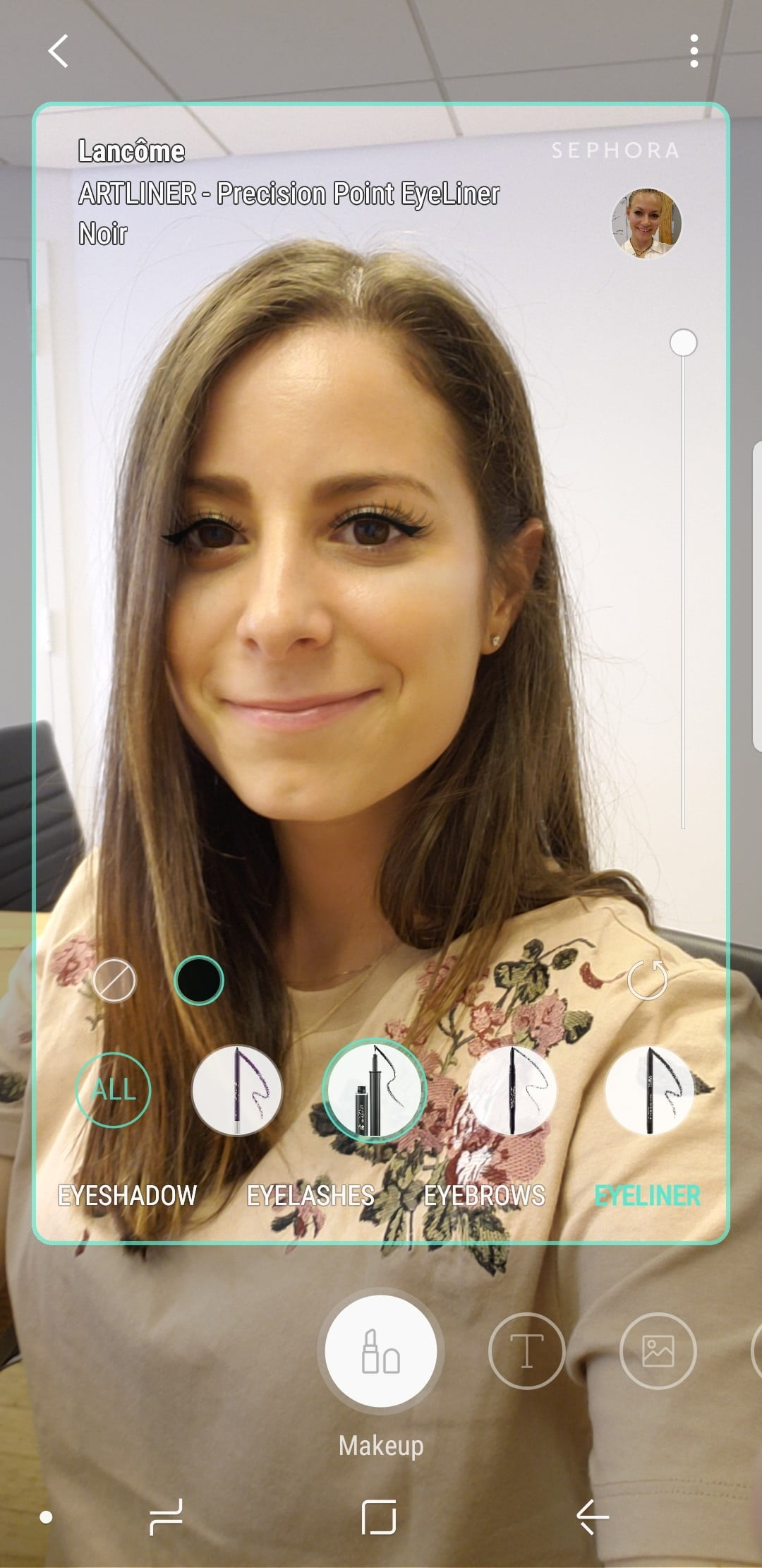 how to try on and purchase products using the galaxy s9 makeup feature bixby filter 5