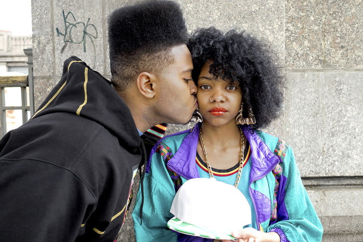 2017 photography trends black male kissing female with afro
