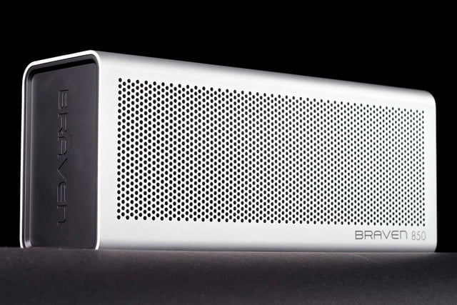 Braven 850 portable bluetooth speaker front left angle
