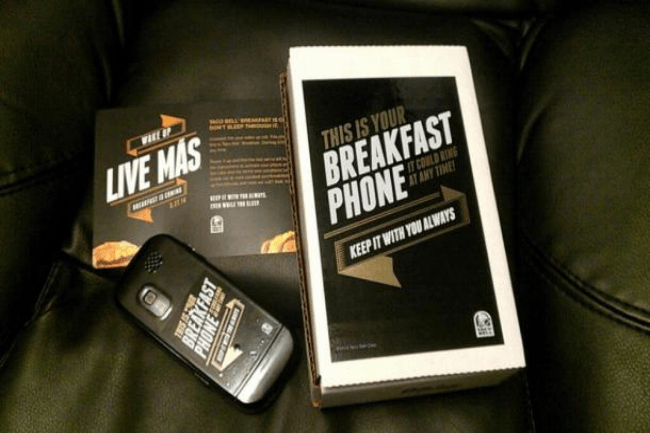 Taco Bell sends 1,000 people 'Breakfast Phones' with secret missions
