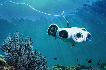 This underwater camera drone can auto-follow and film while you dive