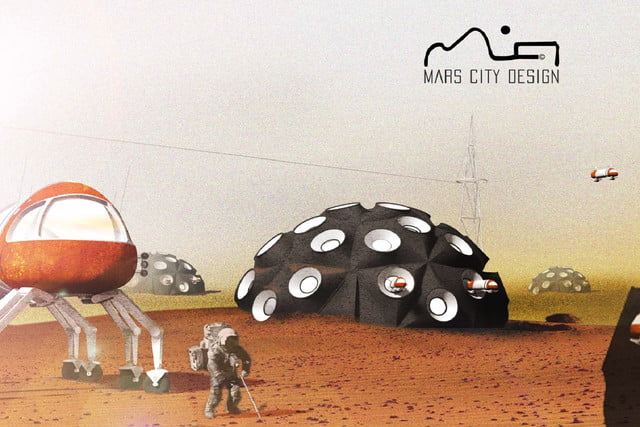 3d printing mars colony mojave desert by gabriel hallet  town