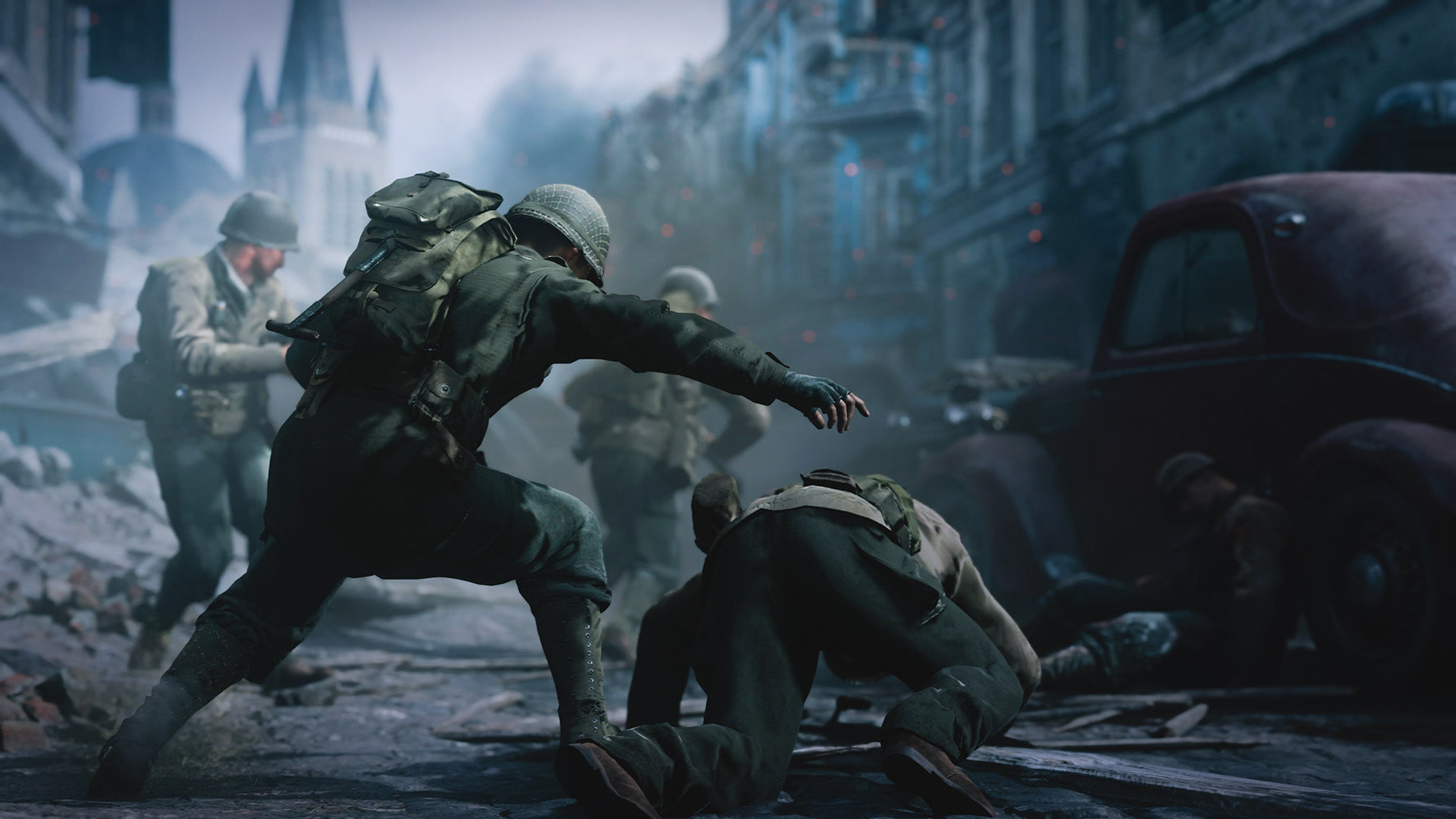 Call Of Duty WWIIs Competitive Multiplayer Component Will Focus On The Fast Paced Grounded Action Seen In Campaign But Sledgehammer Has Also