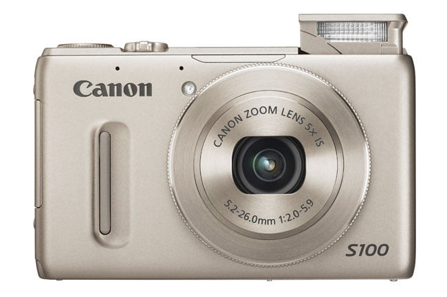 Canon powershot s100 review digital trends canon powershot s100 review black front flash sciox Images