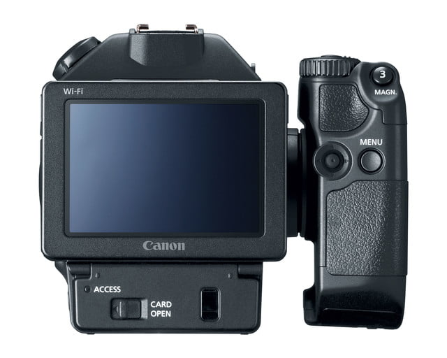 canon unveils c700 xc15 4k monitors camcorder back hires