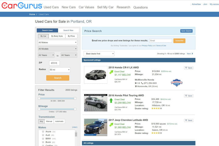 Best Used Car Websites Digital Trends