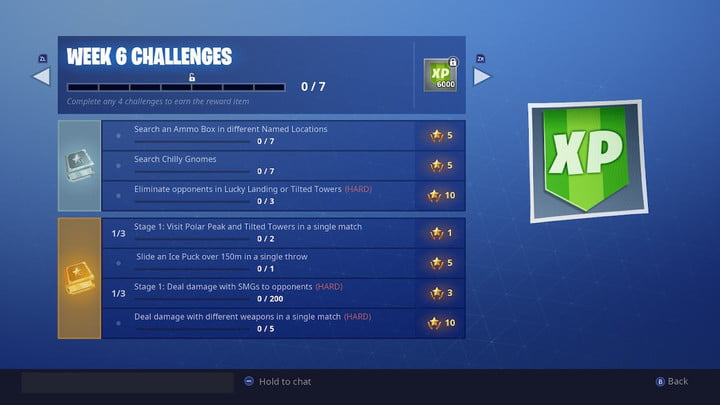 Week 6 challenges list | fortnite week 6 challenges fortnite search chilly gnomes