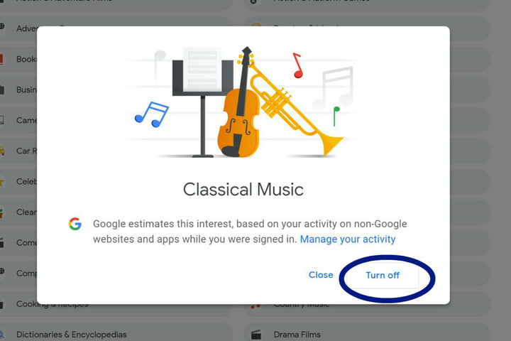 how to turn off targeted ads in google classicalmusic
