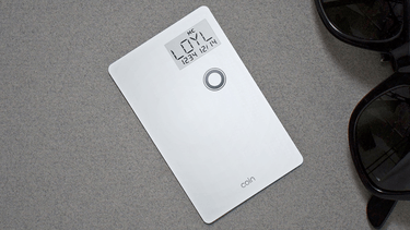Coin stores multiple credit cards in one, ready for easy