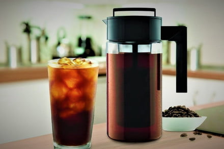 Tired of bitter coffee? Pick up a cold brew coffee maker for $19 on Amazon