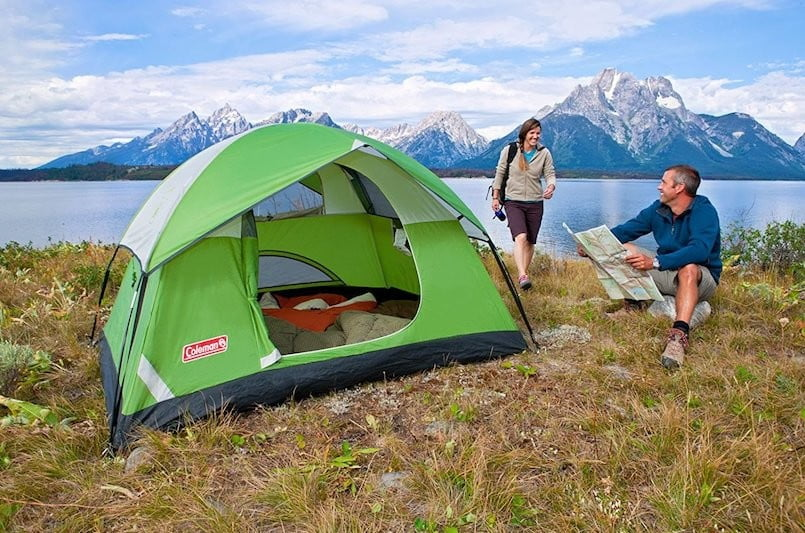 dirt cheap camping gear coleman tent