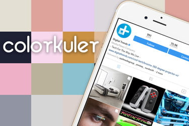 Colorkuler Will Generate A Color Palette Based On Your Instagram