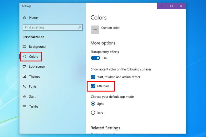 how to make windows 10 look like 7 colors title bar
