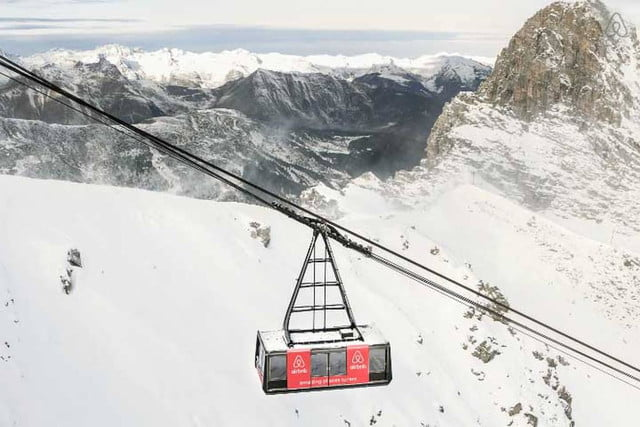 airbnbs new a night at contest is for cable car in the french alps courchevel airbnb b7963013