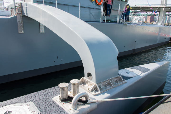 darpa officially christens the actuv in portland boat pontooncu1