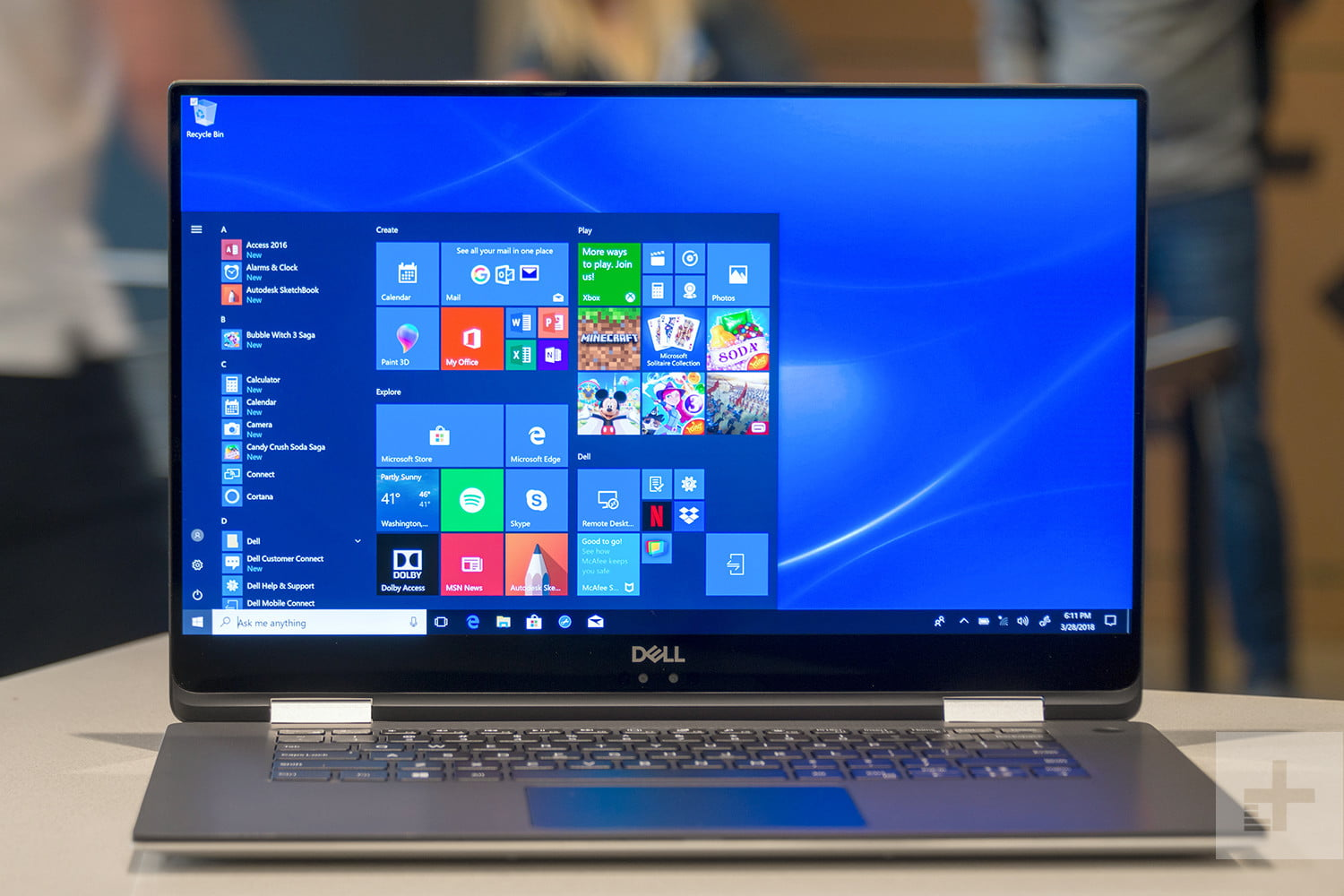 dell xps 15 2 1 in review front display