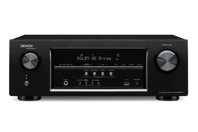 denon destroys price barriers 250 av receiver armed bluetooth 4k s500bt front