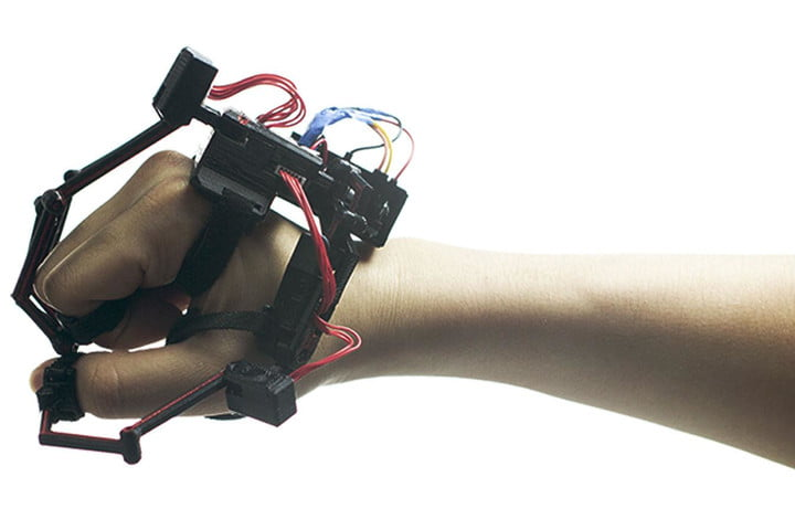 Dexmo exoskeleton glove lets you 'feel' virtual objects with your hand