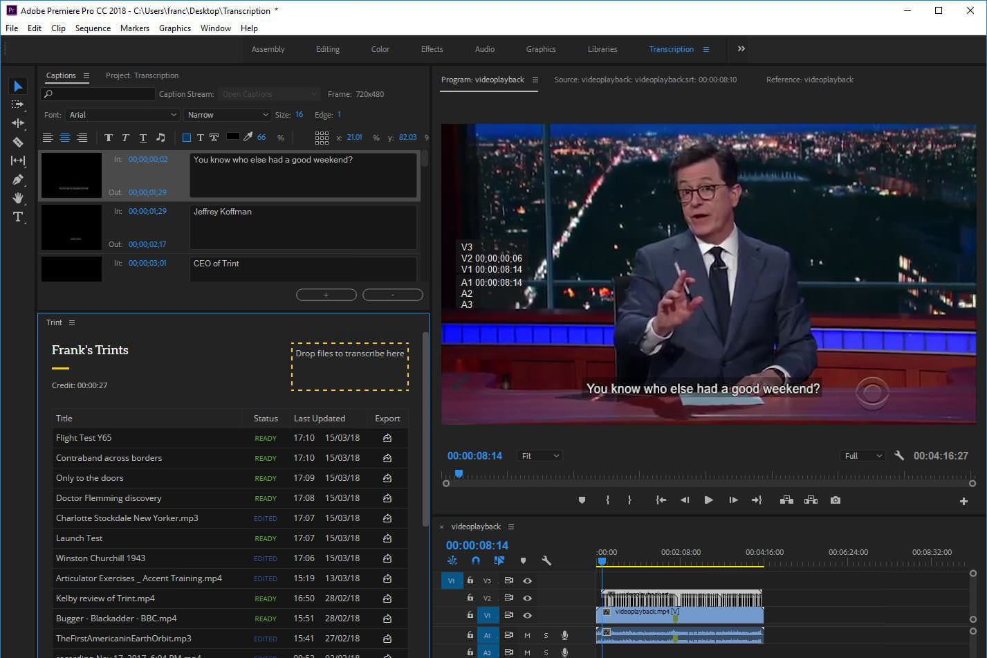 Plug-in Uses A I  to Generate Closed Captions inside