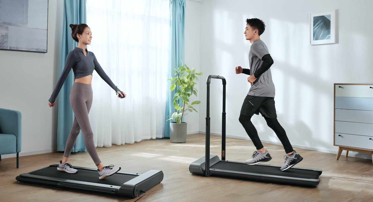 Exercise while working at your desk with the foldable WalkingPad R1 treadmill