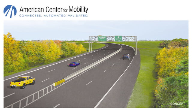 worlds first highway test facility for autonomous vehicle opens in michigan 170517 acm renderings indd