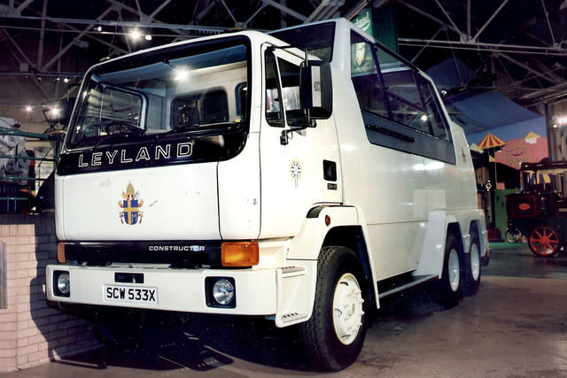 10 sweet popemobiles that will make you wish held the keys of heaven 1982 leyland popemobile 3