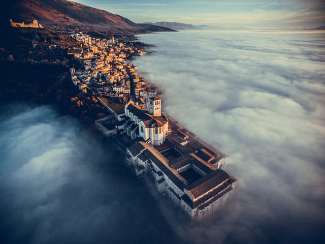 dronestagram 2016 contest 1st prize winner category travel basilica of saint francis assisi