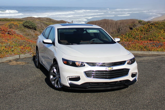 2016 chevrolet malibu first drive front top angle