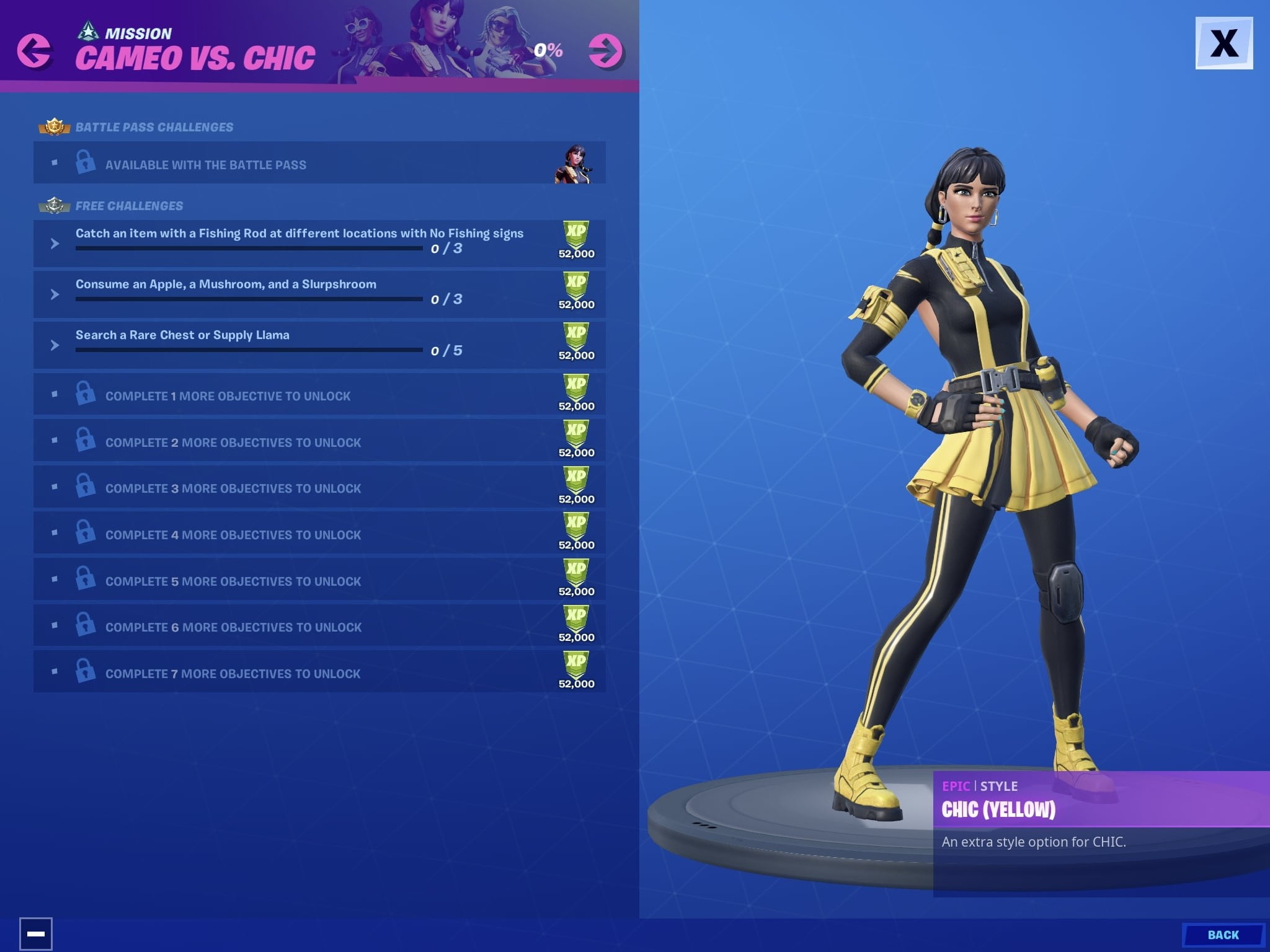 Fortnite Cameo vs Chic Challenges