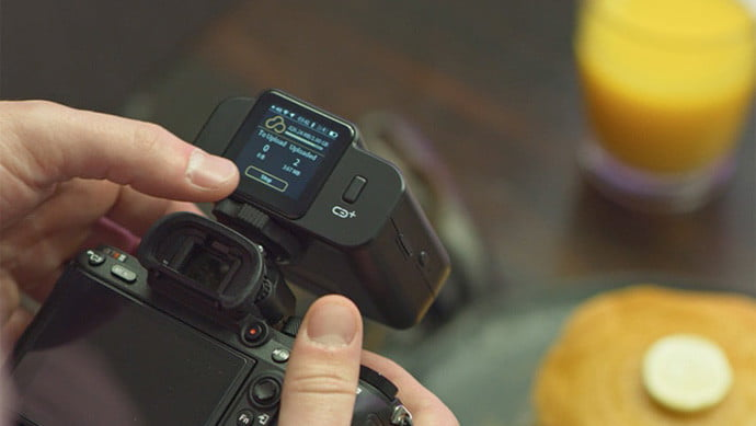 This device backs up DSLR photos using 4G and works as a wireless tether