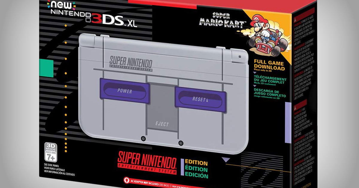 Get Your Nostalgia Fix With the Nintendo New 3DS XL Super NES Edition
