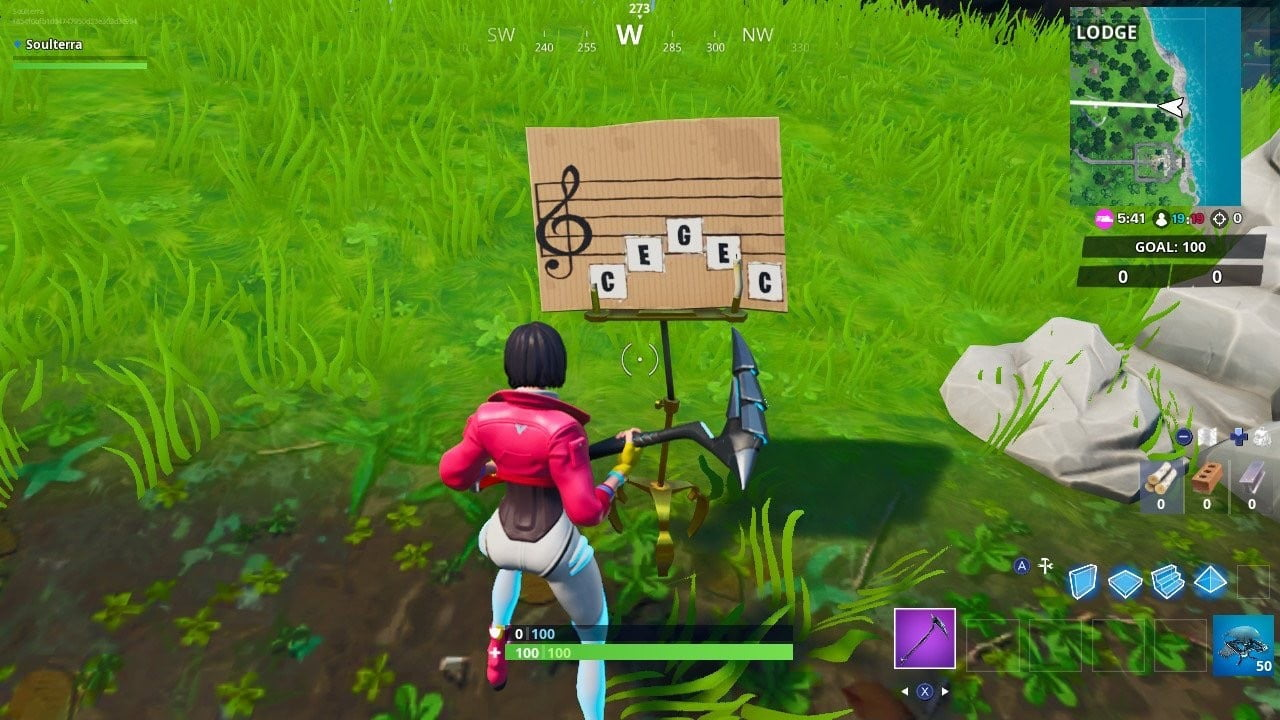 Visit an oversized piano in Fortnite with our season 10, week 6 challenge guide