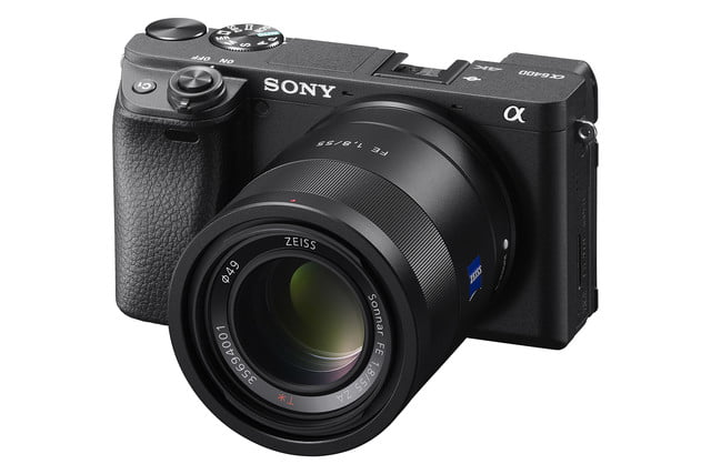 sony a6400 announced fe55f18z right black