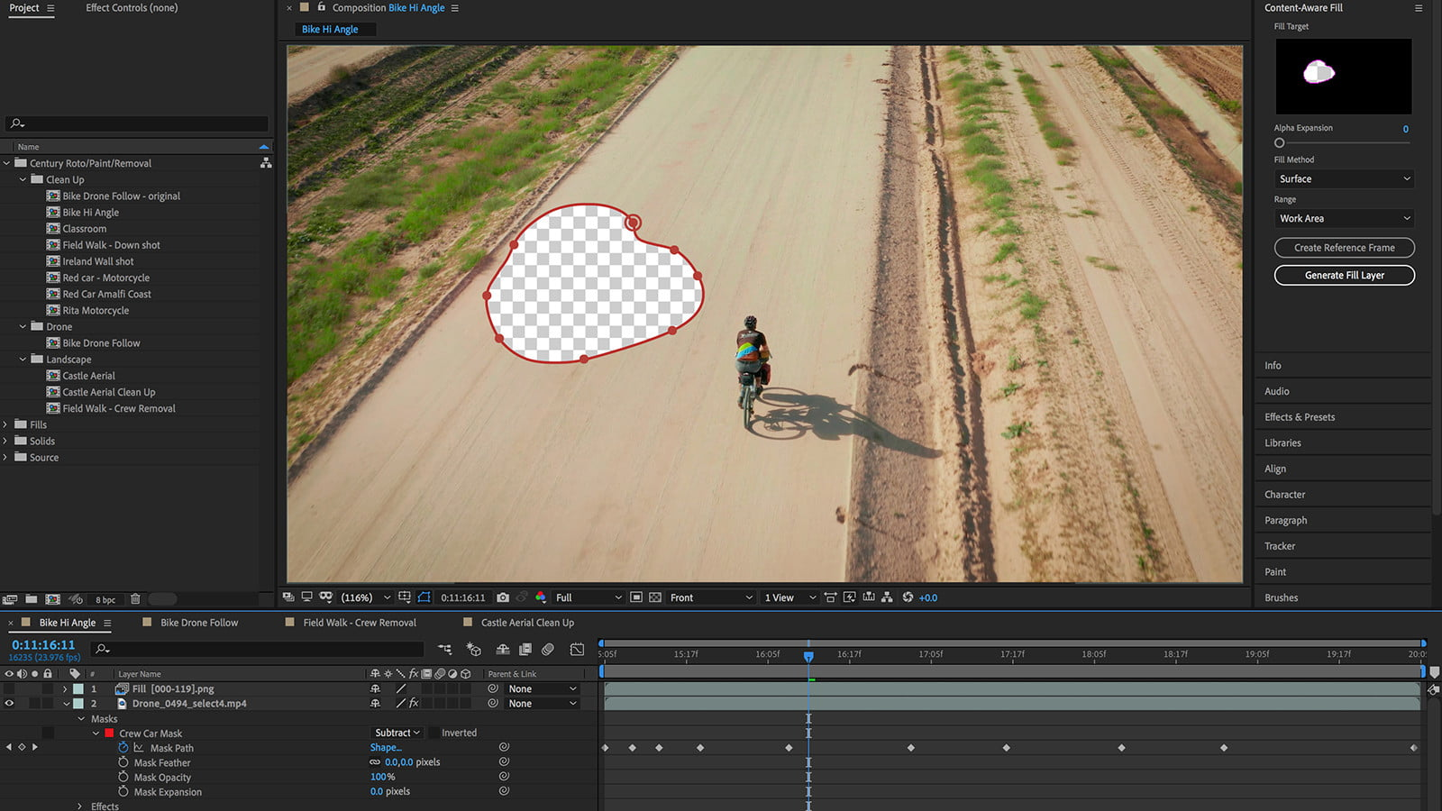 Adobe After Effects New Content-Aware Fill makes Objects