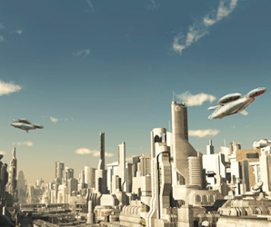 Saudi prince is planning a futuristic city with robot dinosaurs and flying cars