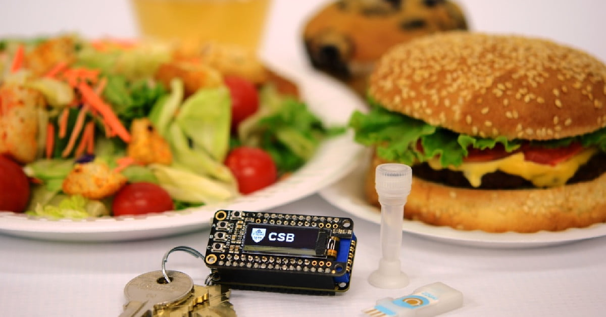 Keychain device warns of dangerous allergens in your food before you eat it