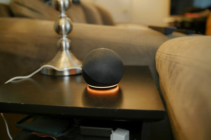 Amazon Echo Dot (4th generation) on the table